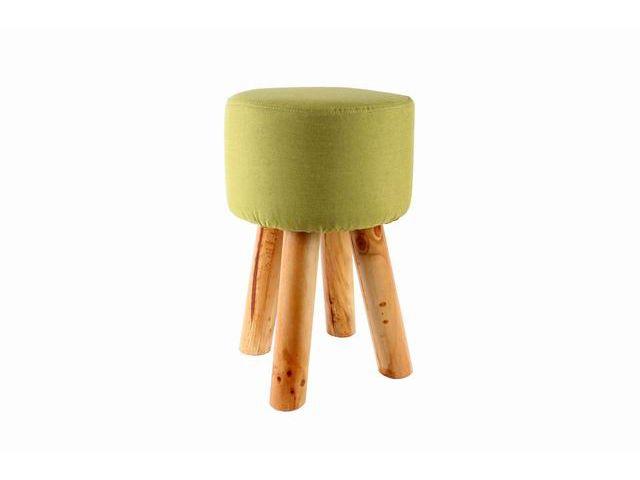 Sedute Per Sgabelli.Dama Sgabello In Legno Con Seduta Imbottita Rotonda Tessuto